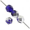 Fire Polished 4mm Cobalt Blue/Labrador Half-Coat